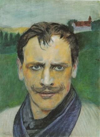 Harald Sohlberg (1869-1935), Self-portrait, 1896, Oil on canvas, 39 x 28,5 cm, Private collection