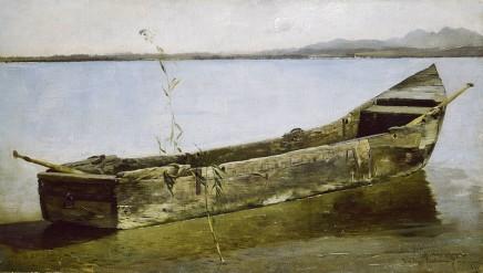 Josef Wopfner (1843-1927), The last canoe, c. 1884/7, Oil on canvas, Museum Georg Schäfer, Schweinfurt