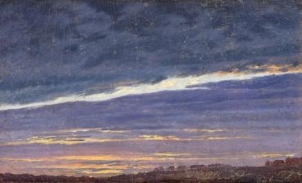 Caspar David Friedrich (1774-1840), Abendlicher Wolkenhimmel, 1824, Oil on canvas, 12,5 x 21,2 cm, Belvedere, Vienna