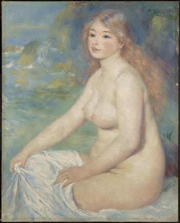 Auguste Renoir (1841-1919), Blonde bather, 1881, oil on canvas, 81,6 x 65,4 cm, Clark Art Institute, Williamstown