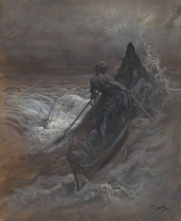 Gustave Doré (1832-83), After the shipwrecking (from the Rime of the Ancient Mariner), c. 1875, gouache and ink, 50,8 x 40,5 cm, Getty Museum, L.A.