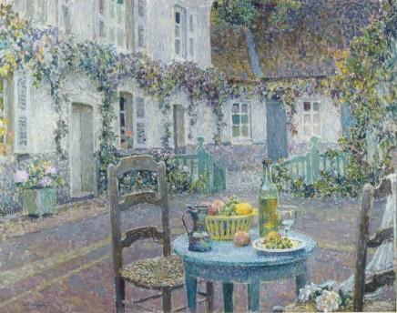 Henri le Sidaner (1862-1939), The blue table, 1923, oil on canvas, 73,5 x 92,5 cm, Singer Laren Museum