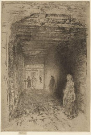 J.A.M. Whistler (1834-1903), The beggars, ca. 1879-80, etching, 308 x 211 mm (sheet), Fitzwilliam Museum, Cambridge