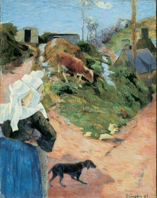 Paul Gauguin (1848-1903), Landscape from Brittany with Breton women, 1888, oil on canvas, Ny Carlsberg Glyptotek, Copenhagen