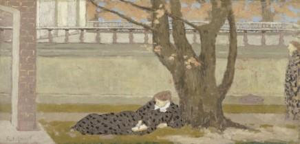 Ker-Xavier Roussel (1867-1944), La Terrasse, ca. 1892/93, oil on canvas, 36 x 75 cm, Musée d'Orsay, Paris