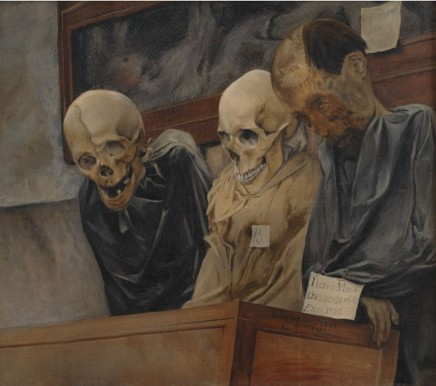 Laurits Andersen Ring (1854-1933), Three skulls from the Capuchin Monastery, 1894, oil on canvas, 55 x 62 cm, Statens Museum, Copenhagen