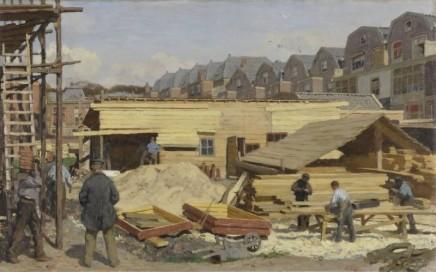 Willem Bastiaan Tholen (1860-1931), Houses under construction, 1895, oil on canvas, 42 x 66 cm, Kröller-Müller Museum, Otterlo