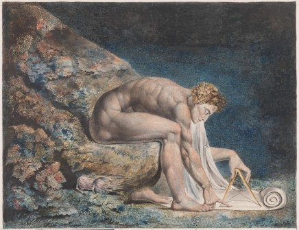 William Blake (1757-1827), Newton, 1795-1805, ink and watercolour, 46 x 60 cm, Tate Britain