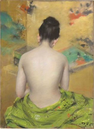 William Merritt Chase (1849-1916), Study of flesh color and gold, 1888, pastel on paper, 45,7 x 33 cm, National Gallery of Art, Washington
