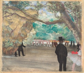 Edgar Degas (1834-1917), The curtain, c. 1880, pastel, 29 x 33,3 cm, National Gallery of Art, Washington, Collection of Mr and Mrs Paul Mellon