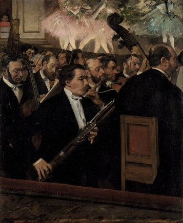 Edgar Degas (1834-1917),The orchestra at the opera, c. 1870, oil on canvas, 56,5 x 45 cm, Musée d'Orsay