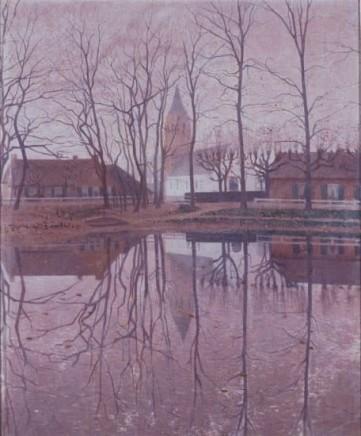 Ferdinand Hart Nibbrig (1866-1915), The Koesweerd pond, c. 1899, oil on canvas, 65,5 x 54,5 cm, Singer Laren