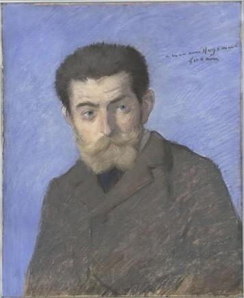 Louis Forain (1852-1931), Portrait of Huysmans, c. 1878, pastel, 54,9 x 44,8 cm, Musée d'Orsay, Paris