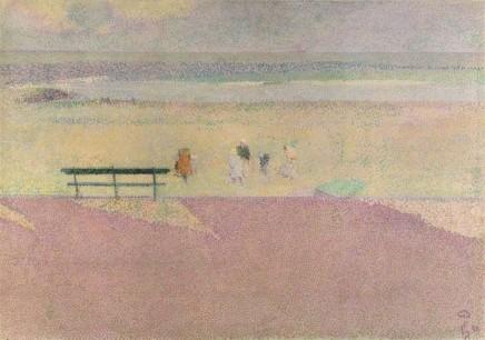 Henry van de Velde (1863-1957), Meeresküste, 1889, oil on canvas, 60,7 x 85,7 cm