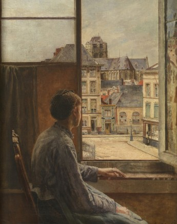 Henri de Braekeleer (1840-1888), Teniers Square in Antwerp, 1878, oil on canvas, 81 x 64 cm, Museum of Fine Arts, Antwerp