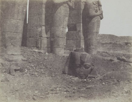John Beasley Greene (1832-1856), Untitled (Ramesseum, with head from a colossus of Ramses II), 1854-55, Collection Richard and Ronay Menschel