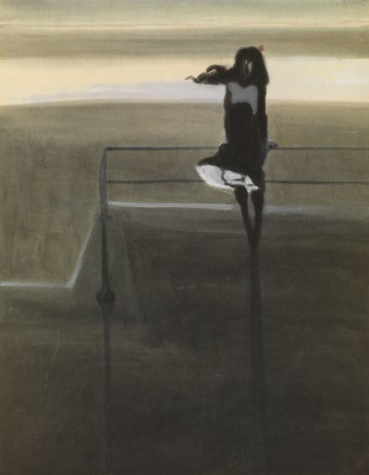 Léon Spilliaert (1881-1946), The gust of wind, 1904, watercolour and gouache, 51 x 54 cm, MuZee Ostend