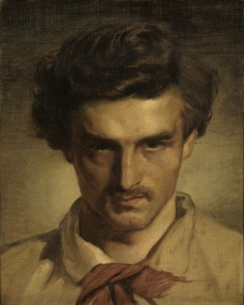 Anselm Feuerbach (1829 - 1880), Self-portrait as a young man, 1852/3, oil on canvas, 42 x 32 cm, Kunsthalle Karlsruhe