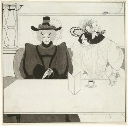 Aubrey Beardsley (1872-1898), Black coffee, 1895, black ink on paper, 15,7 x 15,9 cm, Harvard Art Museums/Fogg Museum