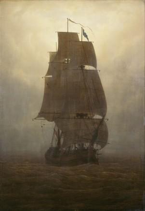 Caspar David Friedrich (1774-1840), Sailing ship, oil on canvas, 71 x 49,5 cm, Kunstsammlungen Chemnitz