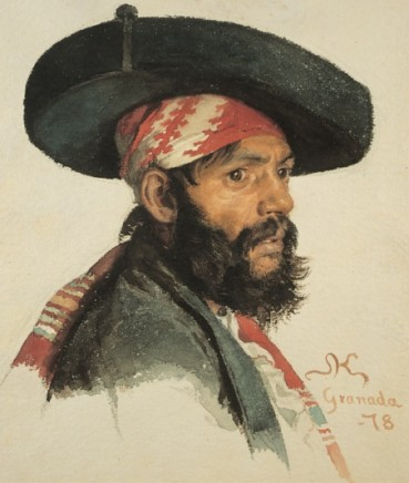 P.S. Krøyer (1851-1909), A Spaniard, 1878, watercolour, Hirschsprung Collection, Copenhagen