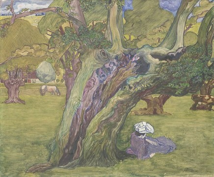 Jan Toorop (1858-1928), Old oaks in Surrey, c. 1890, oil on canvas, 63 x 76 cm, Stedelijk Museum, Amsterdam
