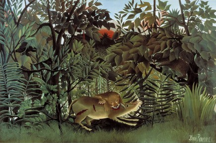 Henri Rousseau (1844-1910), The hungry lion throws itself on the antelope, 1905, oil on canvas, 200 x 301 cm, Fondation Beyeler