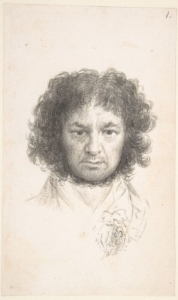 Francisco Goya (1746-1828), Self-portrait, c. 1796, brush and ink on paper, MET, New York