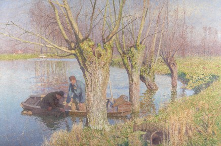Emile Claus (1849-1924), Pulling in the nets, 1893, oil on canvas, Museum Ixelles Brussels