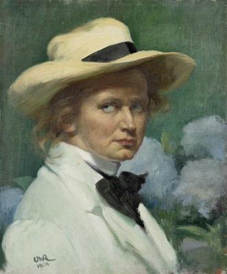 Ottilie Roederstein (1859-1937), Self-portrait with hat, 1904, oil on canvas, 55,3 x 46,1 cm, Städel Museum, Frankfurt am Main
