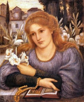 Marie Spartali Stillman (1844-1927), Cloister lilies, 1891, watercolour on paper, 45 x 36 cm, Ashmolean Museum