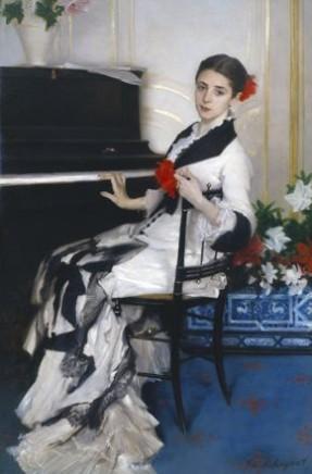 John Singer Sargent (1856-1925), Madame Ramón Subercaseaux, c. 1880/1, Oil on canvas, Fayez. S. Sarofim collection