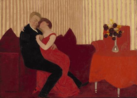 Félix Vallotton (1865-1925), The Lie, 1897, oil on artist's board,24 x 33,3 cm, Baltimore Museum of Art