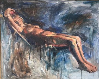 Tin Odescalchi Nude in Deckchair