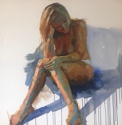 Tin Odescalchi Square Seated Nude