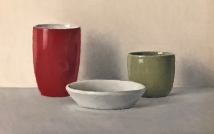 David Stubbs, Red, White And Green On Grey And Pink