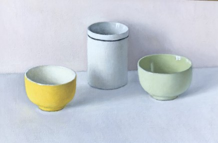 David Stubbs, Yellow, White And Green With Black On Grey And Pink
