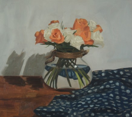 Sam Travers, Peach Roses and Spots, 2018