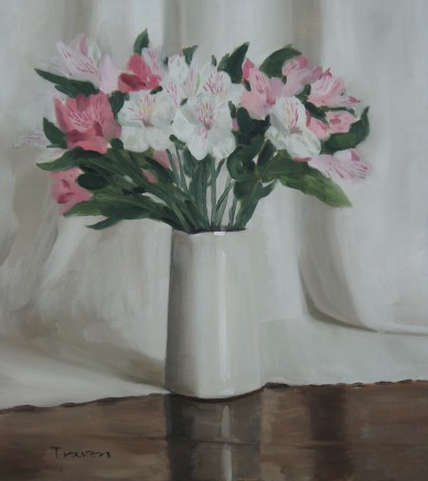 Sam Travers, Pink and White Lilies, 2018
