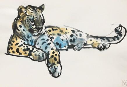 Mark Adlington , 25. Leopard on Ledge, 2019