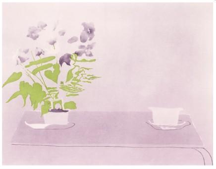 Patrick Procktor RA, Campanula etching with aquatint