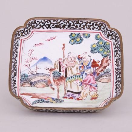 A CANTON ENAMEL TRAY, Qianlong (1736 – 1795)