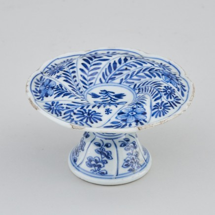 A CHINESE BLUE AND WHITE SPIRAL FORM SALT, Kangxi (1662-1722)