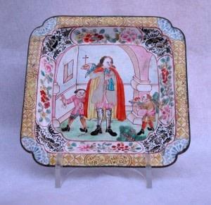 A FINE CANTON ENAMEL TRAY, Qianlong 1736-1795