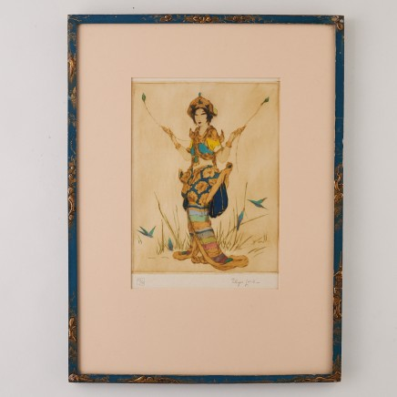 Elyse Ashe Lord, AN ELYSE LORD COLOURED ETCHING,