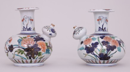 A RARE PAIR OF JAPANESE IMARI KENDI, Edo Period, 17th century
