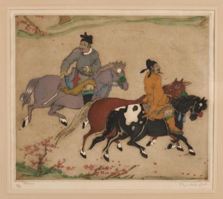 Elyse Ashe Lord, 'CHINESE HORSEMEN' BY ELYSE ASHE LORD, (1900 – 1971)