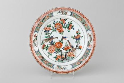 A LARGE FAMILLE VERTE PIECRUST DISH, 康熙年间 (1662 – 1722)