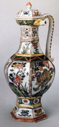 A RARE FAMILLE VERTE PUZZLE JUG AND COVER, Kangxi (1662 - 1722)
