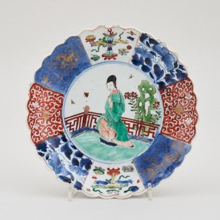 A CHINESE KANGXI FAMILLE VERTE DISH, Kangxi (1662 - 1722)